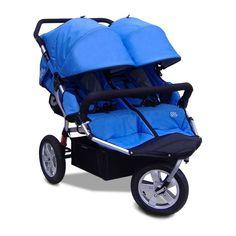 Tike Tech City X3 Double Swivel Stroller - Pacific Blue