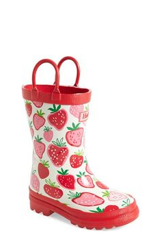 Hatley 'Strawberry Sundae' Rain Boot (Walker, Toddler & Little Kid) available at #Nordstrom