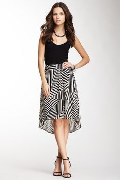 Asymmetrical Stripes Hi-Lo Skirt. I just bought this skirt at the rack. love