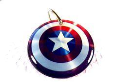 Pet Tag Dog Tag Name Tag Superhero Movies Shield Star Circle Shape Tag by ID4Pet. $14.99, via Etsy.