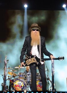 Billy Gibbons Guitar, Zz Top, Live Rock, Music Images, Rock Legends, Blues Rock, Music Guitar, Sharp Dressed Man, Music Icon
