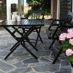 Skifer fliser til terrasse Summer House Garden, Outdoor Tables, Outdoor Decor, Lancaster, Lounge, Outdoor Furniture, Interior Design, Building, Inspiration