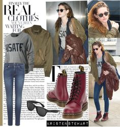 A fashion look from January 2013 featuring Theyskens' Theory jackets, 7 For All Mankind jeans and Ray-Ban sunglasses. Browse and shop related looks. Cool Outfits, Summer Outfits, Fashion Outfits, Womens Fashion, Kristen Stewart, Future Clothes, Leggings, Her Style, What To Wear