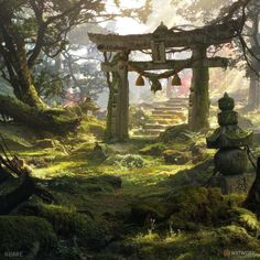 ArtStation - environment concept art, Christian Dimitrov Fantasy Environments by alexperyan Concept Art World, Fantasy Concept Art, Fantasy Artwork, Fantasy Art Landscapes, Fantasy Landscape, Landscape Art, Fantasy Places, Fantasy World, Art And Illustration