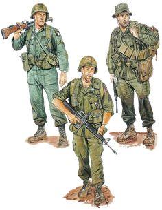 """""""PFC, 1st Bde., 101st Abn. Div. 1965"""" """"Sgt. 3d Bde., 82d Abn, Div. 1968"""" """"S/Sgt. 173d Abn. Bde. 1971"""""""
