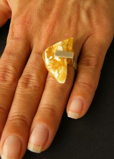 Amber Ring, Silver 925, Yellow White,  baltic amberstone, Unique NEW by…
