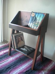 Amazon.com: Custom vinyl record display stand and storage. Holds 400+ LP's.: Handmade