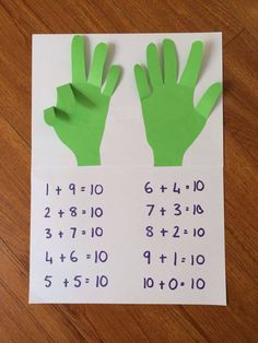Number sense craftivity kids math, kindergarten math activities, subtraction for kindergarten, learning activities Math Addition, Simple Addition, Teaching Addition, Addition Activities, Addition Games, Addition Chart, Addition And Subtraction, Homeschool Math, Homeschooling