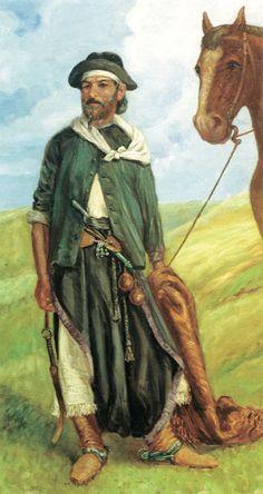 el gaucho Rio Grande Do Sul, Old Clothes, Wild West, Vintage Photos, Folk, Illustration Art, Horses, Cartoon, History