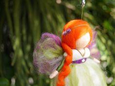 Handgemaakte Merino wol Fairy pop naald vilten sieraad door 7Fairies