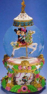 Disney Fab 5 Carousel Snowglobe