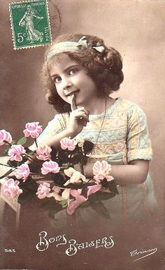 Vintage Postcard ~ Sweet Little Girl
