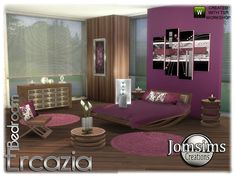 Sims 4 CC's - The Best: Ercazia bedroom by Jomsims
