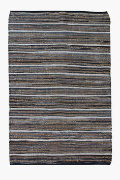 This hand woven floor rug with a combination of jute and denim is simply, effortlessly cool and so easy to style. The natural finish will add texture to yo