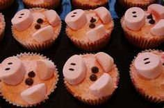 pig cupcakes! I love this