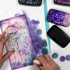 Alcohol Ink Crafts, Alcohol Ink Painting, Alcohol Ink Art, Card Making Tutorials, Craft Tutorials, Lavinia Stamps Cards, Gel Press, Press Kit, Gifts For Office