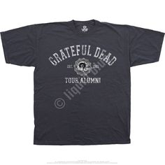 7682b2233 Liquid Blue Grateful Dead GD Tour Alumni Grey Poly Cotton T-Shirt Tee. If  you were lucky enough to see The Dead during the Jerry Garcia Era