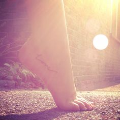 New love tattoo, foot tattoo, ankle tattoo, love