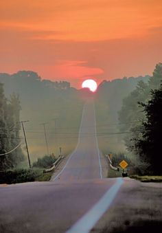 Amanecer en la Carretera   #sunset #landscape #carretera