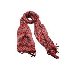 Echarpe em tecido de viscose geométrica na cor vermelho, preto e branco. #pashmina #pashimina #modafeminina #fashion #scarf #scarfs