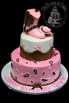 pink western cake ~ love!