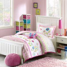 Home Essence Kids Blossoms Bedding Comforter Set, Multicolor