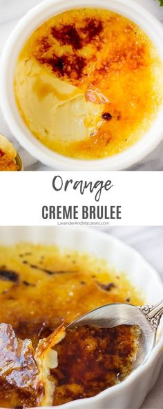 If you're looking for homemade  desserts for a crowd, try Orange Creme Brûlée. It's a simple and delicious French dessert recipe flavored with orange zest and vanilla. Easy and yummy. Traditional French Desserts, Classic French Desserts, French Dessert Recipes, Easy Puff Pastry Desserts, Desserts For A Crowd, Best Creme Brulee Recipe, French Cookies, Sour Fruit, Orange Zest