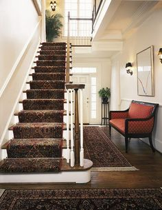 Stair Carpet Runner And Rods Stair Carpet Runner And Rods. Discovering an excellent carpet stair runner is an extremely important choice. Since the carpets on Carpet Staircase, Staircase Runner, Hallway Carpet, Staircase Railings, Stair Runners, Staircase Design, Hallway Rug, Staircase Remodel, Spiral Staircases