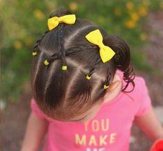 Little Girl Braids Easy Toddler Hairstyles, Cute Little Girl Hairstyles, Little Girl Braids, Flower Girl Hairstyles, Girls Braids, Braided Hairstyles, Formal Hairstyles, Kids Hairstyle, Hairstyles 2016
