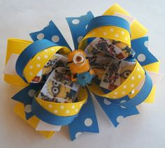 Boutique Handmade Hair Bow Baby Girls by JustinesBoutiqueBows
