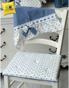 Cuscino per sedia gommapiuma double face Angelica Home & Country Collezione Cuori Oceano