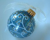 Hand painted bauble by Deb Durler