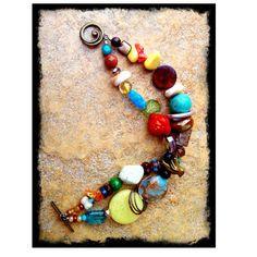 Handmade double strand bracelet