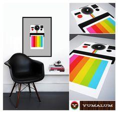 Polaroid poster print  Instant Rainbow  50 x 70 cm von yumalum