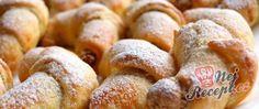 Recept Rohlíčky ze šlehačkového těsta s ořechovou náplní