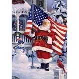 Christmas Garden Flag - American Santa