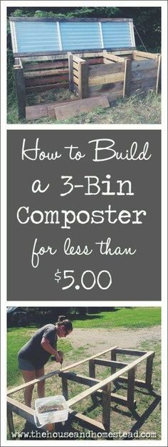 A 3-bin composter allows you to mix organic green and brown waste in one compartment, turn it in another, and store your finished, ready-to-use compost in another. And the best part is, you can build one yourself with recycled materials for next to nothing!