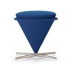 Tabouret Cone Vitra bleu