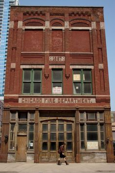 Former firehouse of Engine Company 42 at 228.W. Illinois Street. In use from March 31, 1888 to November 1, 1968
