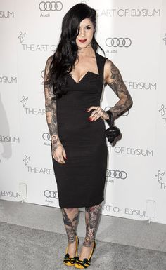 Deadmau5 and Kat Von D attend The Art of Elysium's 6th Annual HEAVEN Gala presented by Audi at 2nd Street Tunnel on January 12, 2013 in Los Angeles, California
