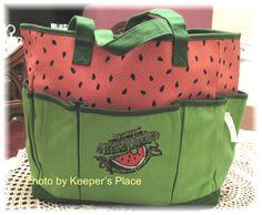Longaberger COLLECTORS CLUB Watermelon Homestead Celebration Limited Ed Tote New #Longaberger #ToteBag