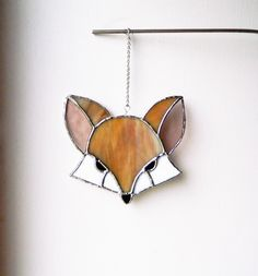 Fox Suncatcher, fox lovers birthday gift, Woodland fox light catcher, Animal gift for dad, foxy glass ornaments, Best selling items, by BelleVerreBon on Etsy