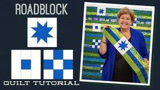 """Make a """"Roadblock"""" Quilt with Jenny Doan of Missouri Star (Video Tutorial) Quilting For Beginners, Quilting Tips, Quilting Tutorials, Msqc Tutorials, Quilting Projects, Strip Quilts, Easy Quilts, Quilt Blocks, Jenny Doan Tutorials"""