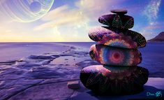 Alien Worlds, Collage Artists, Surreal Art, Digital Collage, Art Day, Buddha, Statue, Artwork, Instagram