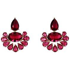 Sherryl Drops (3.475 RUB) ❤ liked on Polyvore featuring jewelry, earrings, 18k earrings, 18 karat gold jewelry, nickel free jewelry, nickel free earrings and lightweight earrings