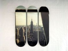"Série NYC : ""Empire State"". Triptyque disponible sur www.liliboard.com  #skate #skateboard #skateboarding #skateeverydamnday #deco #decorationinterieur #homedecor #homedecoration #design #NYC #empirestate #walldecoration #homeinterior#skateart #liliboard"