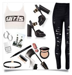 """Girl in LA"" by pradkors on Polyvore featuring Alexander Wang, Prada, Lancôme, Shiseido, Chanel, Givenchy, MAC Cosmetics, Sophie Buhai and Nails Inc."