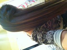 Long, straight brown hair