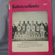 Baltimore Bullets vs St. Louis Hawks Basketball NBA 1966-67 Program 37 Pages