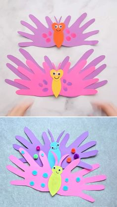 BUTTERFLY HANDPRINT CARDS - such a cute Mother's Day Craft for kids! Perfect for preschool or kindergarten too! Learn how to make this easy butterfly handprint card. These are the perfect card for preschoolers to make for Mother's Day! Toddler Arts And Crafts, Spring Crafts For Kids, Mothers Day Crafts For Kids, Craft Activities For Kids, Baby Crafts, Easter Crafts, Holiday Crafts, Fun Crafts, Art For Kids